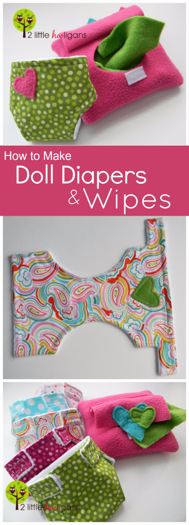 DIY Gifts for Babies - Doll Diapers And Wipes - Best DIY Gift Ideas for Baby Boys and Girls - Creative Projects to Sew, Make and Sell, Gift Baskets, Diaper Cakes and Presents for Baby Showers and New Parents. Cool Christmas and Birthday Ideas http://diyjoy.com/diy-gifts-for-baby
