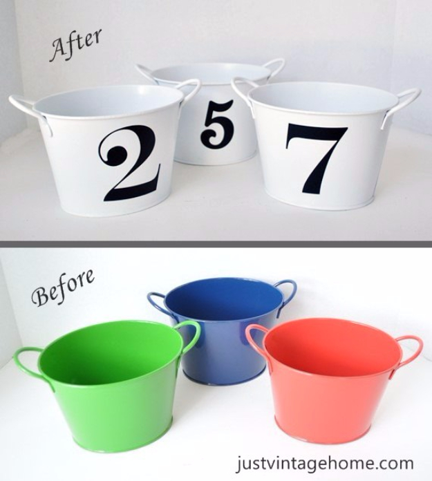 Easy Dollar Store Crafts - Dollar Tree Buckets To Chic Decor - Quick And Cheap Crafts To Make, Dollar Store Craft Ideas To Make And Sell, Cute Dollar Store Do It Yourself Projects, Cheap Craft Ideas, Dollar Sore Decor,