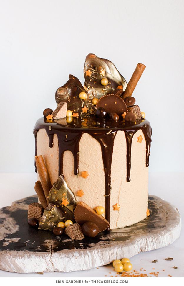 41 Best Homemade Birthday Cake Recipes - Drippy Ganache Cake - Birthday Cake Recipes From Scratch, Delicious Birthday Cake Recipes To Make, Quick And Easy Birthday Cake Recipes, Awesome Birthday Cake Ideas http://diyjoy.com/best-birthday-cake-recipes