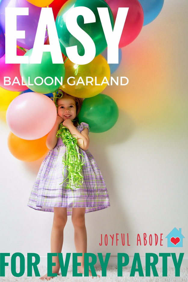 39 Easy DIY Party Decorations -Easiest Ever Balloon Garland - Quick And Cheap Party Decors, Easy Ideas For DIY Party Decor, Birthday Decorations, Budget Do It Yourself Party Decorations #diyparties #party #partydecor #parties