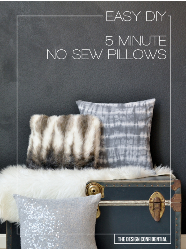 42 DIY Room Decor for Girls - Easy DIY 5 Minute No Sew Pillows - Awesome Do It Yourself Room Decor For Girls, Room Decorating Ideas, Creative Room Decor For Girls, Bedroom Accessories, Cute Room Decor For Girls