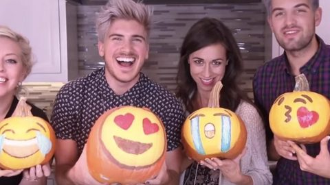 These Crazy Guys And Gals Make The Famous Emoji Pumpkins And They're So Much Fun! | DIY Joy Projects and Crafts Ideas