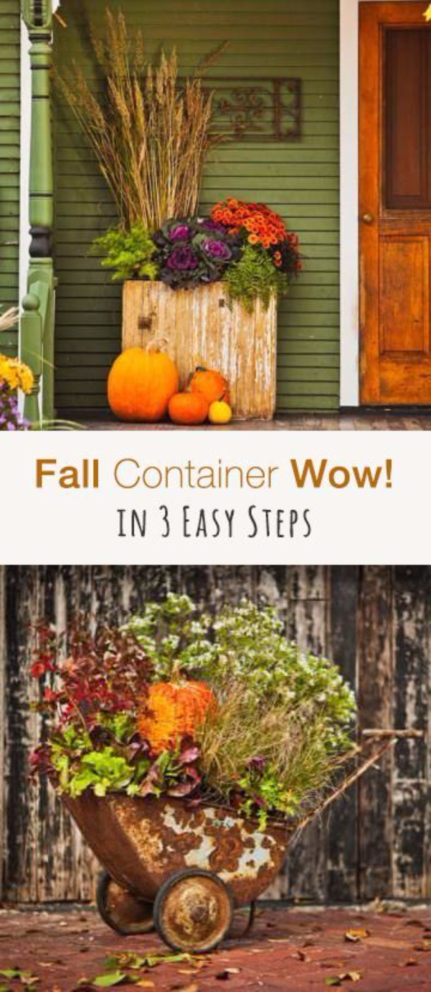Garden Ideas For Fall Part - 34: Best Gardening Ideas For Fall - Fall Container In 3 Easy Steps - Cool DIY  Garden
