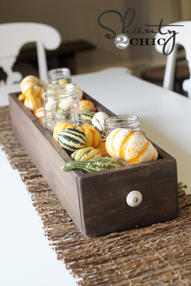 Best Mason Jar Crafts for Fall - Fall Table Centerpiece - DIY Mason Jar Ideas for Centerpieces, Wedding Decorations, Homemade Gifts, Craft Projects with Leaves, Flowers and Burlap, Painted Art, Candles and Luminaries for Cool Home Decor