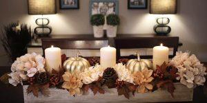 Dollar Store Craft Idea: Pumpkin Floral Fall Centerpiece