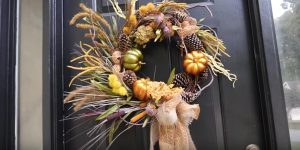 She Makes a Dramatic Dollar Tree Fall Wreath And It's So Stunning!