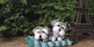 She Shows Us How To Make The Ultimate Adorable Felted Schnauzers!