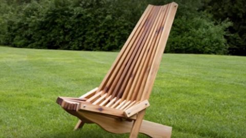 He Makes The Coolest Looking Fold Up Cedar Lawn Chair Ive Ever Seen