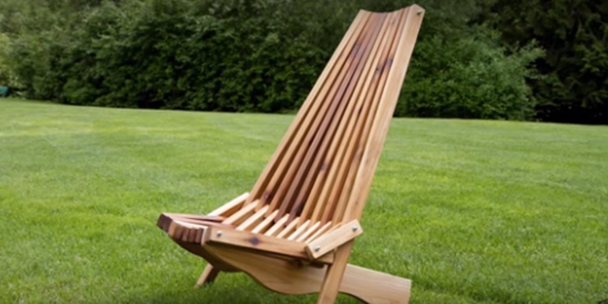 He Makes The Coolest Looking Fold Up Cedar Lawn Chair I Ve