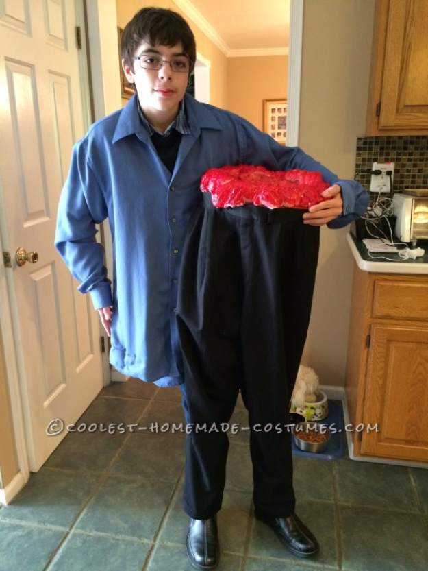 Best DIY Halloween Costume Ideas - Half Man Costume - Do It Yourself Costumes for Women, Men, Teens, Adults and Couples. Fun, Easy, Clever, Cheap and Creative Costumes That Will Win The Contest