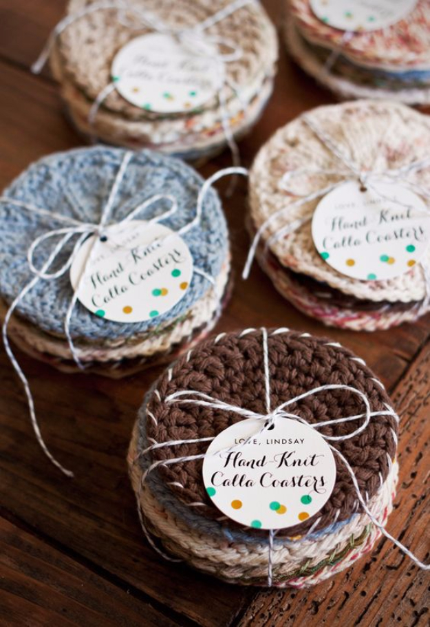 32 easy knitted gifts that you can make in hours for Homemade coaster ideas