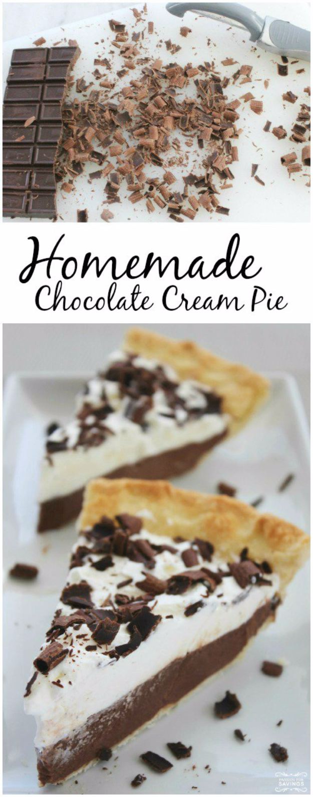 41 Best Homemade Birthday Cake Recipes - Homemade Chocolate Cream Pie - Birthday Cake Recipes From Scratch, Delicious Birthday Cake Recipes To Make, Quick And Easy Birthday Cake Recipes, Awesome Birthday Cake Ideas