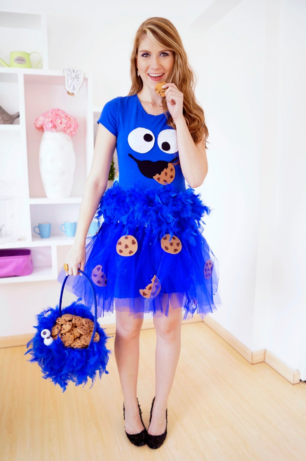 Best DIY Halloween Costume Ideas - Homemade Cookie Monster Costume - Do It Yourself Costumes for  sc 1 st  DIY Joy & 30 Halloween Costumes That Will Win the Contest Every Time