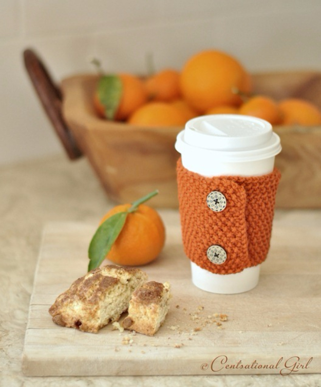 38 Easy Knitting Ideas - Hand Knit DIY Coffee and Tea Cozies- Knitting Ideas For Beginners, Cute Kinitting Projects, Knitting Ideas And Patterns, Easy Knitting Crafts, Gifts You Can Knit#diy #knitting