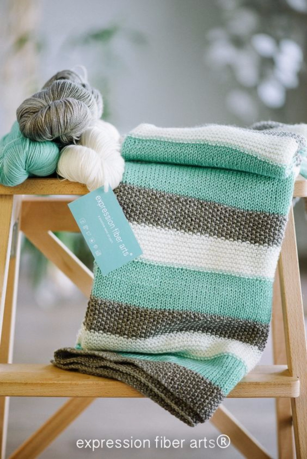 38 Easy Knitting Ideas -Knitted Baby Blanket- DIY Knitting Ideas For Beginners, Cute Kinitting Projects, Knitting Ideas And Patterns, Easy Knitting Crafts, Gifts You Can Knit#diy #knitting