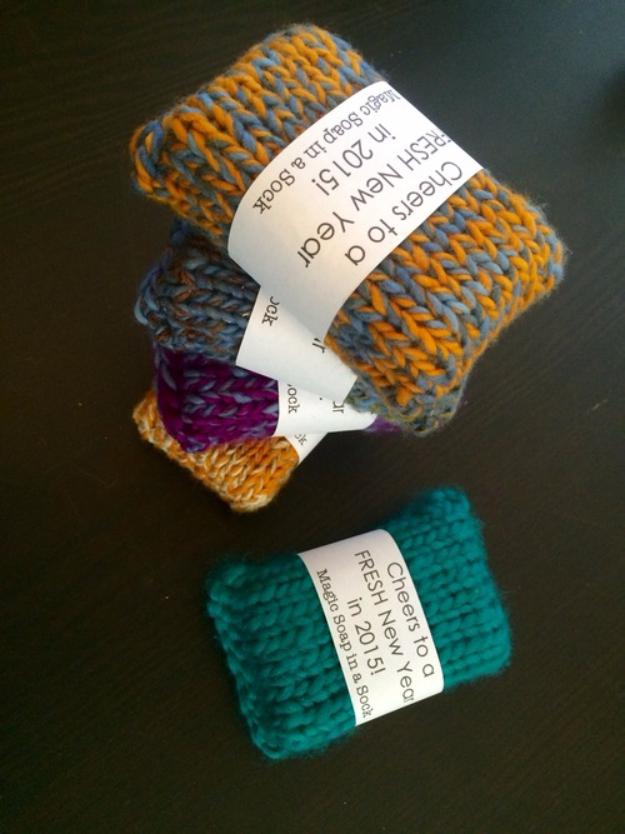 38 Easy Knitting Ideas -Knit Soap Socks- DIY Knitting Ideas For Beginners, Cute Knit Projects, Knitting Ideas And Patterns, Easy Knitting Crafts, Gifts You Can Knit#diy #knitting