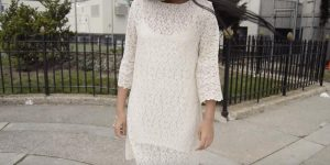 You Can Whip Out A Classic Lace Bell Sleeve Shift Dress In No Time! (Easy DIY!)