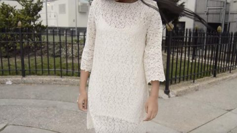 You Can Whip Out A Classic Lace Bell Sleeve Shift Dress In No Time! (Easy DIY!)   DIY Joy Projects and Crafts Ideas