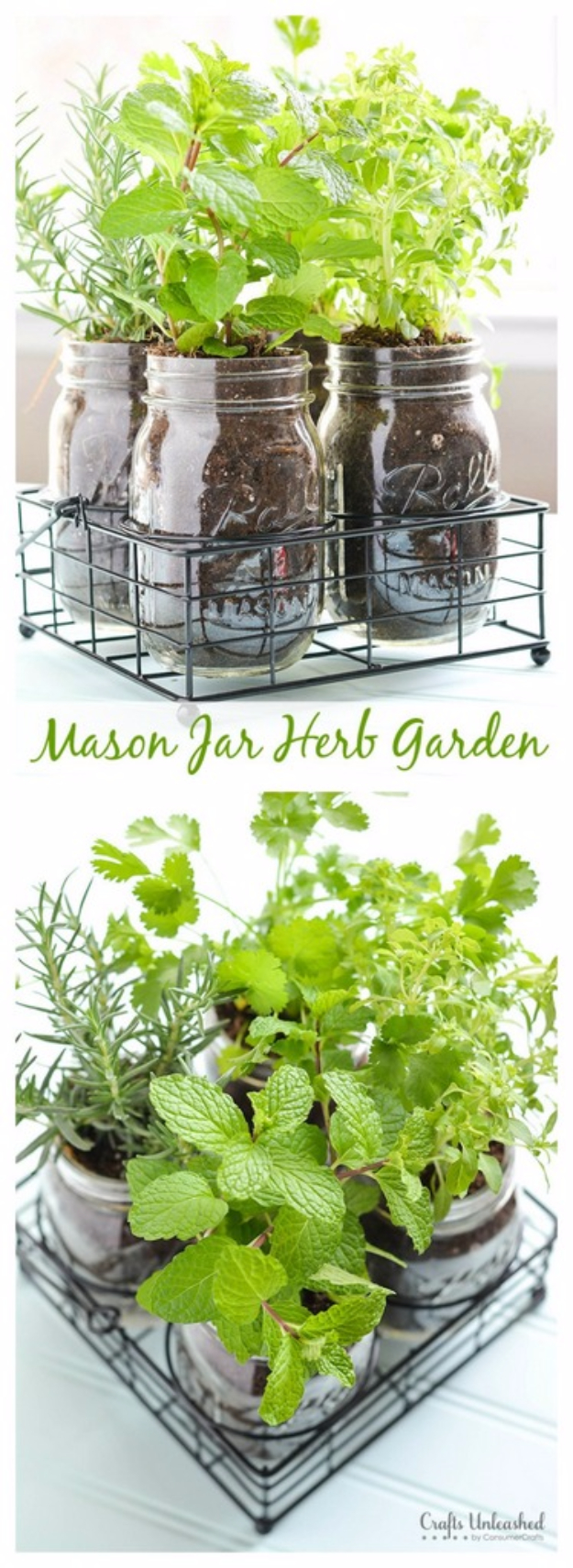 Mason Jar Crafts You Can Make In Under an Hour - Mason Jar DIY Herb Garden - Quick Mason Jar DIY Projects that Make Cool Home Decor and Awesome DIY Gifts - Best Creative Ideas for Mason Jars with Step By Step Tutorials and Instructions - For Teens, For Home, For Gifts, For Kids, For Summer, For Fall #masonjarcrafts #easycrafts