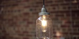 They Make Authentic Mason Jar Lanterns To Hang Over Their Kitchen Table (Watch!)