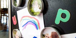 Watch How She Upcycles Mason Jar Lids Into Special Magnets (Too Cute!)