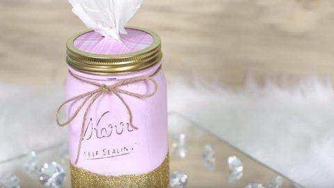 DIY Mason Jar Tissue Holder | DIY Joy Projects and Crafts Ideas