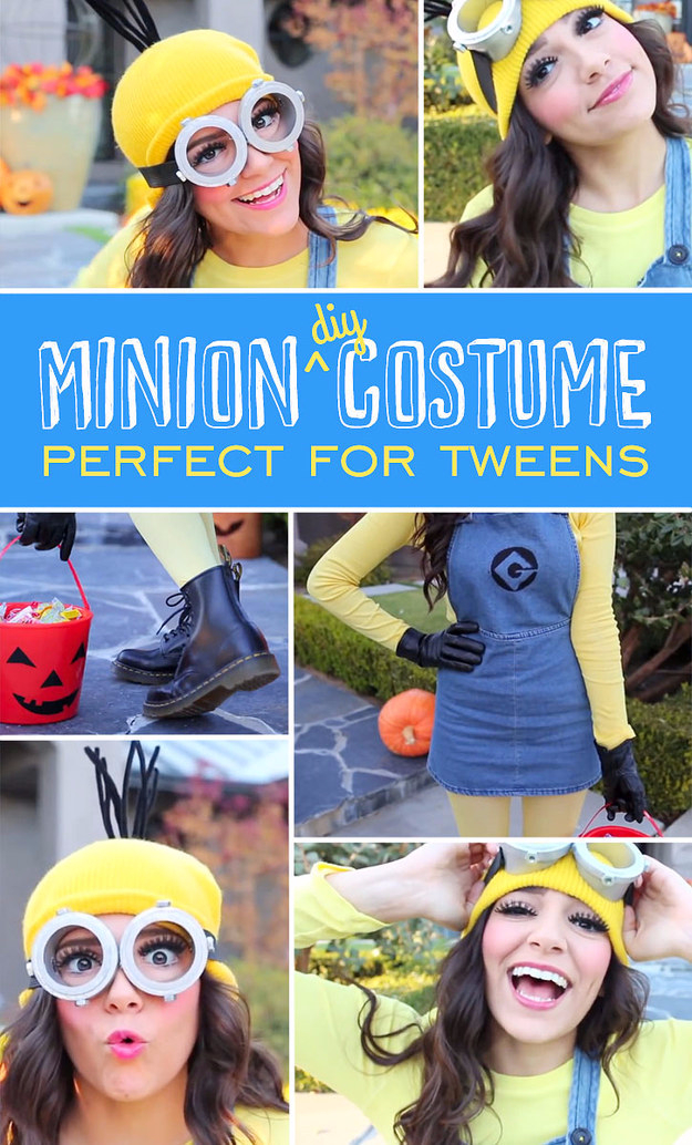 30 halloween costumes that will win the contest every time best diy halloween costume ideas mini skirted minion costume do it yourself costumes for solutioingenieria Choice Image