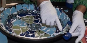 Watch How She Makes This Stunning Mosaic Bird Bath (So Easy!)