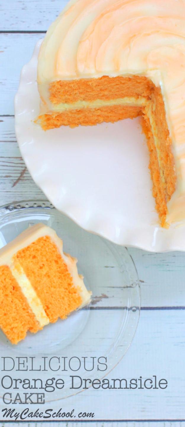 41 Best Homemade Birthday Cake Recipes - Orange Dreamsicle Cake - Birthday Cake Recipes From Scratch, Delicious Birthday Cake Recipes To Make, Quick And Easy Birthday Cake Recipes, Awesome Birthday Cake Ideas http://diyjoy.com/best-birthday-cake-recipes