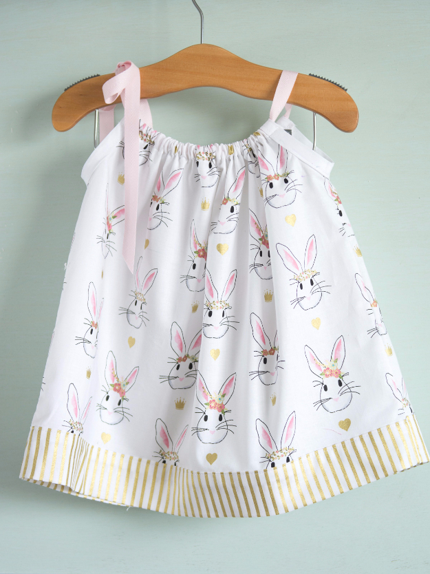 51 Things to Sew for Baby - Pillowcase Dress Tutorial - Cool Gifts For Baby, Easy Things To Sew And Sell, Quick Things To Sew For Baby, Easy Baby Sewing Projects For Beginners, Baby Items To Sew And Sell #baby #diy #diygifts