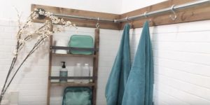 DIY Industrial Pipe Shelf Is Perfect for Small Spaces