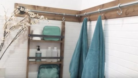 She Needed More Storage For Her Small Bathroom So Watch What She Did!   DIY Joy Projects and Crafts Ideas