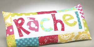 She Makes The Cutest Personalized Quilted Pillow Everyone Is Sure To Love!