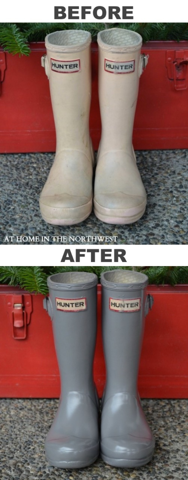 33 Cool DIYs With Spray Paint - Revamped Rubber Boots - Easy Spray Paint Decor, Fun Do It Yourself Spray Paint Ideas, Cool Spray Paint Projects To Try, Upcycled And Repurposed, Restore Old Items With Spray Paint