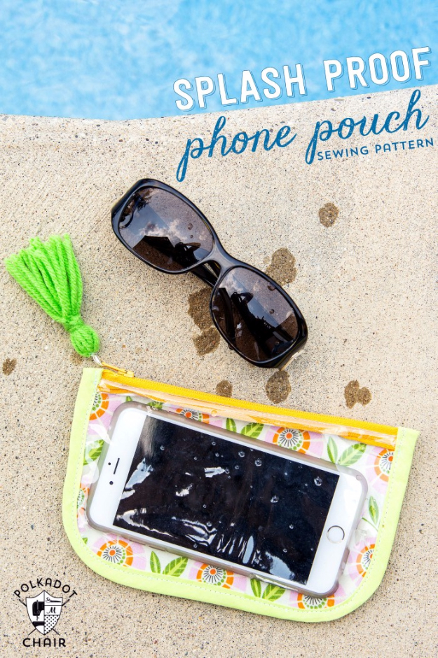 Quick DIY Gifts You Can Sew - Splash Proof Phone Case - Best Sewing Projects for Gift Giving and Simple Handmade Presents - Free Patterns and Easy Step by Step Tutorials for Home Decor, Baby, Women, Kids, Men, Girls http://diyjoy.com/quick-diy-gifts-sew