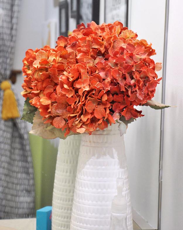 Spray painted fake flowers diy joy spray painted fake flowers mightylinksfo