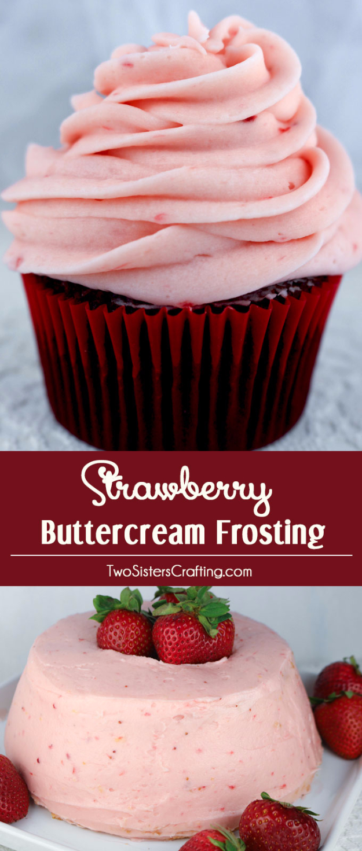 41 Best Homemade Birthday Cake Recipes - Strawberry Buttercream Frosting - Birthday Cake Recipes From Scratch, Delicious Birthday Cake Recipes To Make, Quick And Easy Birthday Cake Recipes, Awesome Birthday Cake Ideas http://diyjoy.com/best-birthday-cake-recipes
