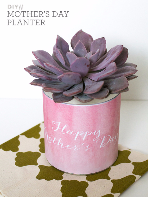 DIY Gifts for Mom - Succulent Planter For Mom - Best Craft Projects and Gift Ideas You Can Make for Your Mother - Last Minute Presents for Birthday and Christmas - Creative Photo Projects, Bath Ideas, Gift Baskets and Thoughtful Things to Give Mothers and Moms http://diyjoy.com/diy-gifts-for-mom