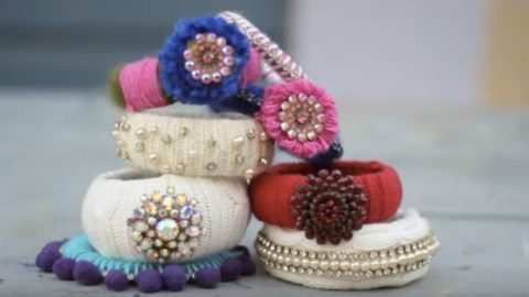 She Buys Sweaters From The Thrift Store And Makes These Fabulous Bracelets! | DIY Joy Projects and Crafts Ideas