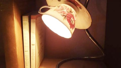 He Makes The Most Unique Lamp With A Tea Cup And Saucer! | DIY Joy Projects and Crafts Ideas