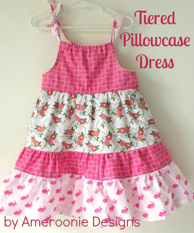 51 Things to Sew for Baby - Tiered Pillowcase Dress - Cool Gifts For Baby, Easy Things To Sew And Sell, Quick Things To Sew For Baby, Easy Baby Sewing Projects For Beginners, Baby Items To Sew And Sell #baby #diy #diygifts