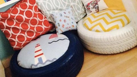 If You Need Some Extra Seating Or A Cute Little Ottoman Watch What She Does! | DIY Joy Projects and Crafts Ideas