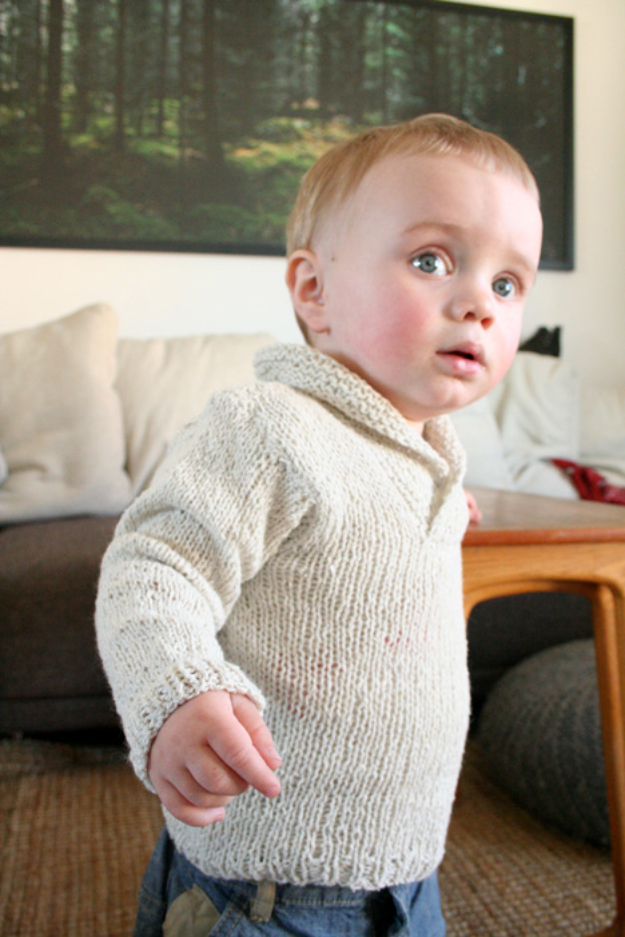 38 Easy Knitting Ideas - Knit Baby Sweater - DIY Knitting Ideas For Beginners, Cute Knit Projects, Knitting Ideas And Patterns, Easy Knitting Crafts, Gifts You Can Knit#diy #knitting
