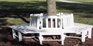 He's Such A Genius…He Builds A Tree Bench Using Old Chairs! (So Clever!)