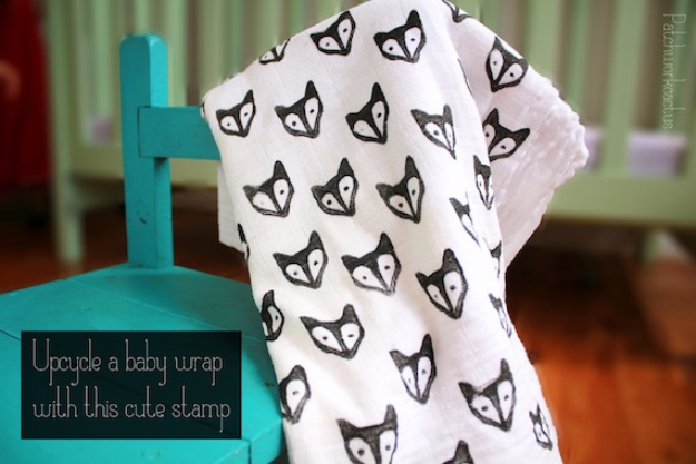 DIY Gifts for Babies - Upcycled Muslin Baby Wrap- Best DIY Gift Ideas for Baby Boys and Girls - Creative Projects to Sew, Make and Sell, Gift Baskets, Diaper Cakes and Presents for Baby Showers and New Parents. Cool Christmas and Birthday Ideas #diy #babygifts #diygifts #baby