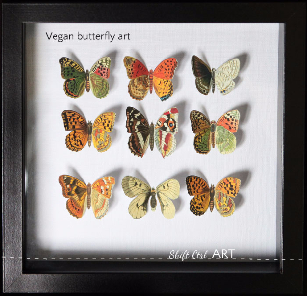 DIY Gifts for Mom - Vegan Butterfly Art - Best Craft Projects and Gift Ideas You Can Make for Your Mother - Last Minute Presents for Birthday and Christmas - Creative Photo Projects, Bath Ideas, Gift Baskets and Thoughtful Things to Give Mothers and Moms #diygifts #giftsformom