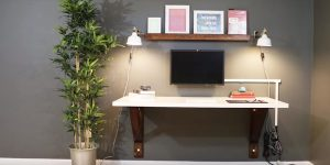 He Builds A Clever Wall Mounted Desk And Saves A Lot Of Money Compared To The Cost of a New One!