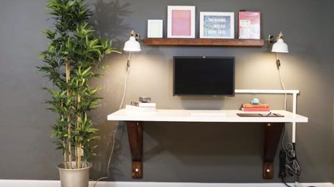 He Builds A Clever Wall Mounted Desk And Saves A Lot Of Money Compared To The Cost of a New One! | DIY Joy Projects and Crafts Ideas