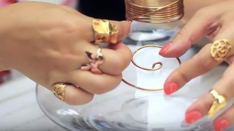 Watch What Happens When She Wraps Copper Wire To A Vase Chic