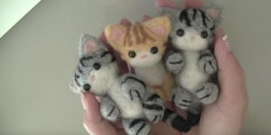 She Makes The Most Adorable Wool Kitties You've Ever Seen By Needle Felting (WATCH!)
